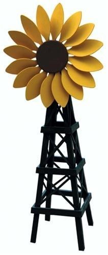 Add some cheer to your yard with this Sunflower Windmill.  It will definitely lighten up your yard.  You can build your Sunflower Windmill with our Sunflower Windmill Woodworking Plan and bring cheer to your yard! #woodworkingideas