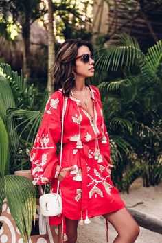 58 Impressive Casual Women Outfit On Vacation To Copy Right Now - Tulum Mexico, Mexico Resorts, Red Boho Dress, Classy And Fab, Viva Luxury, Summer Outfits, Summer Dresses, The Dress, Spring Summer Fashion