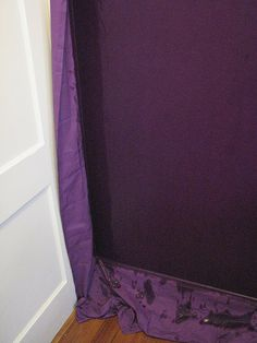 Starched fabric wall cover--this is is a trick used by Army Wives across the world to decorate their Quarters without painting