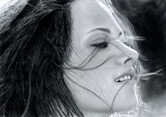 kristen stewart - 50 Excellent Examples of Portrait Drawing  <3 <3