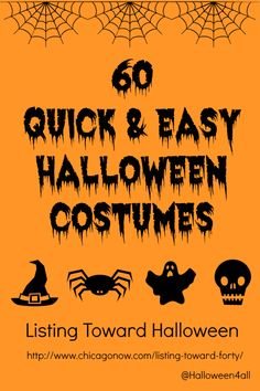Quick and easy Halloween costumes (mostly for adults but some would work for children)