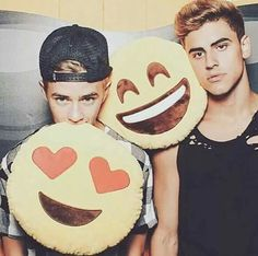 I WANT AN EMOJI PILLOW..................I don't want the pillows I want the boys