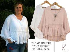 f98b66f0aa2 Une nouveauté en lin de la marque Talia Benson. Top Marinette tailles 42 à  56. A retrouver sur www.kalimbaka.com