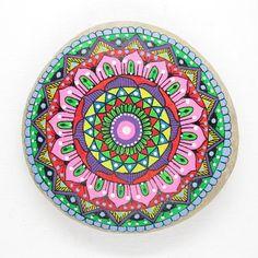 Mandala Adriatic Stone. Super-bright colors by LoveStonesColour