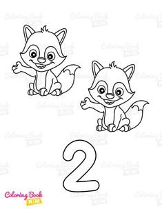 Coloring book with letters, numerals and shapes for little kids. Simple, easy-to-color drawings with bold lines. Alphabet with upper and lower case letters, numbers from 1 to 10 and funny shapes. Active coloring book that improves concentration and motor skills of a child's little hands. Toddler Coloring Book, Coloring Pages For Kids, Fox Coloring Page, Coloring Books, Infant Activities, Book Activities, Colorful Drawings, Easy Drawings, Lower Case Letters