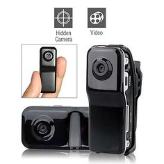Drhob Waterproof Bracket Clip,Black Sports Video Camera Mini DVR Camera,Mini DV,Hidden Camera,SPY Camera Support ** Find out more about the great product at the image link. Audio, Hidden Video Camera, Spy Cam, Digital Video Recorder, Nanny Cam, Spy Gadgets, Gadgets Online, Usb, Dvr Camera