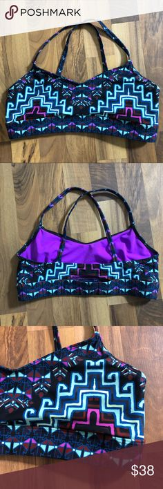 Mara Hoffman Active Size Medium Sports Bra Top This bra top is up for sale! Great condition! Cute!  ❤ Super cute pattern, dark blue with purple, mint ❤ MH Active, cutout in back, cross cross ❤ Stretchy, smooth polyester ❤ Size Measured in Pictures 🔍📏   ✅ Bundle up items and save 💲✅  ❤️I love reasonable offers. ❤️ 🎉 Pair w/jewelry, acc. or shoes🎉 🆕 New items every week! 🆕  I'm a mama on a mission. I sell items online to support my 2 sons. Every purchase is important to us. 😘 Mara…