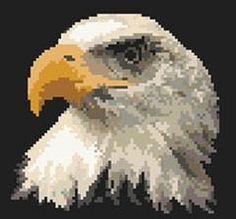Eagle cross stitch pattern
