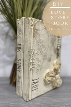 Diy Old Books, Old Book Crafts, Crafts To Do, Anniversary Years, Orchard Design, Stacked Books, Modeling Paste, Iron Orchid Designs, Romantic Shabby Chic