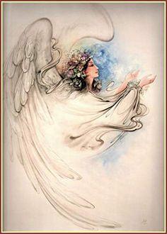 Mahmoud Farshchian: Peace On Earth, Persia, Persian, Iran Miniature Art Print Beautiful Angels Pictures, Angel Pictures, Angel Images, Persian Tattoo, Indian Illustration, Angel Artwork, Paisley Art, Cubism Art, Iranian Art