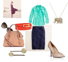 Summer at the Office, created by natasha-cucullo on Polyvore