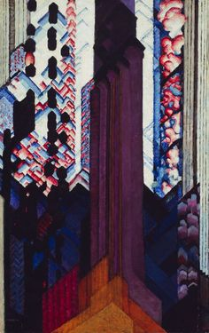 Frantisek Kupka / Reminiscence of a Cathedral / 1920–23 / Oil on canvas