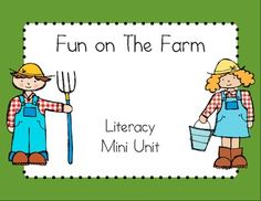 Fun on the farm literacy mini unit $2.00