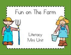 Fun on the farm literacy mini unit $2.00