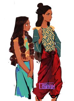 either rebellious Whitua and younger sister, or rebillious Tsúchia and young Whitua
