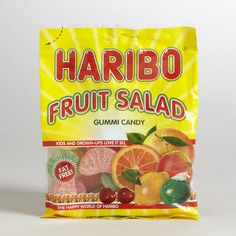 One of my favorite discoveries at WorldMarket.com: Haribo Fruit Salad Gummi Candy