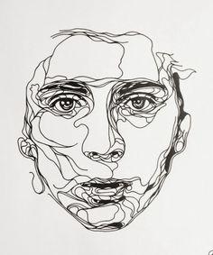 visages d artiste dessines | Dessins au trait, Dessins and Portrait on Pinterest