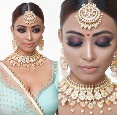 Ideas Makeup Ideas Asian Eyes Hair Colors - All For Hair Cutes Indian Wedding Makeup, Indian Bridal Wear, Indian Wedding Jewelry, Indian Jewelry, Bridal Jewelry, Asian Bridal, Indian Weddings, Bridal Makeup Looks, Indian Makeup Looks