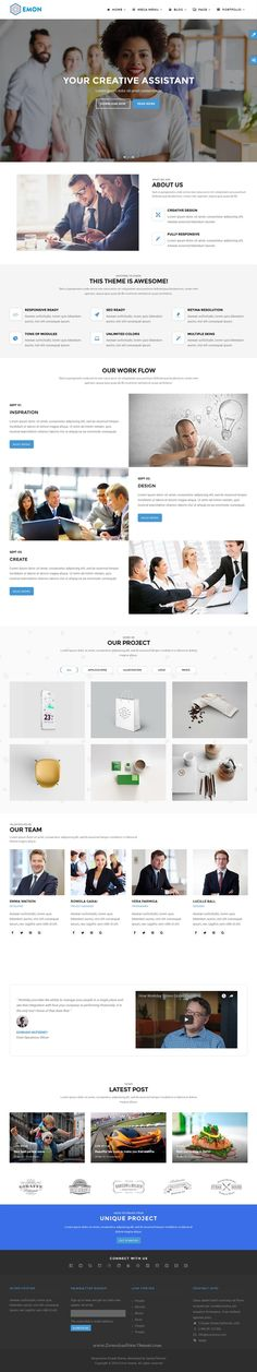 Emon theme is modern and professional #business #Drupal theme with fully responsive design #website.