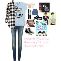 Imagine Meeting AmazingPhil and danisnotonfire by charbear231 on Polyvore