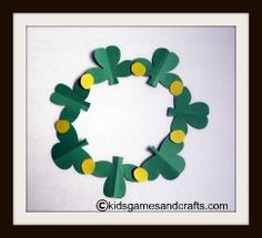 Shamrock wreath for kids