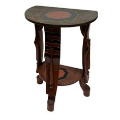 Handmade Large Semi Circle Fulani Table (Ghana) | Overstock™ Shopping - Great Deals on Accent Pieces