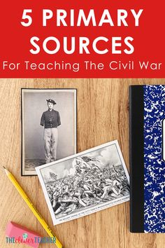 Use these 5 primary sources to create fun Civil War lessons, activities and projects for your kids! These photos and documents will help bring history to life in your classroom. 6th Grade Social Studies, Social Studies Classroom, Teaching Social Studies, History Classroom, Teaching Jobs, Teaching Us History, History Education, Education City, Free Education