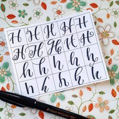 Twenty ways to write an H! I think the uppercase AND lowercase H is such a pretty letter. Admittedly, some of these aren't that great, but this is a fun exercise, nonetheless. @handletteredabcs #handletteredABCs #abcs_h