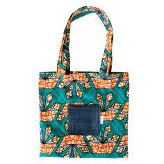 Hanse || Basic|| Tote Bag Green/Orange
