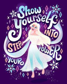 Frozen 2 Lettering Series on Behance Disney Princess Quotes, Disney Songs, Disney Memes, Disney Quotes, Disney And Dreamworks, Disney Pixar, Walt Disney, Disney Characters, Disney Frozen Elsa