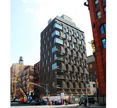 290 Mulberry Street Condiminiums, New York, Ny, by shop architects; lovely contemporary brick patterns