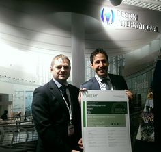 Our CEO, Davide Padoa, at #MAPIC2014 receiving an award for #NaveDeVero #Breeam #architects #architecture #retail #France #Cannes
