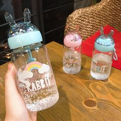 Cool Glow, Drink Bottles, Water Bottles, Snow Globes, Drinking, Ears, Fun, Aesthetics, Interiors