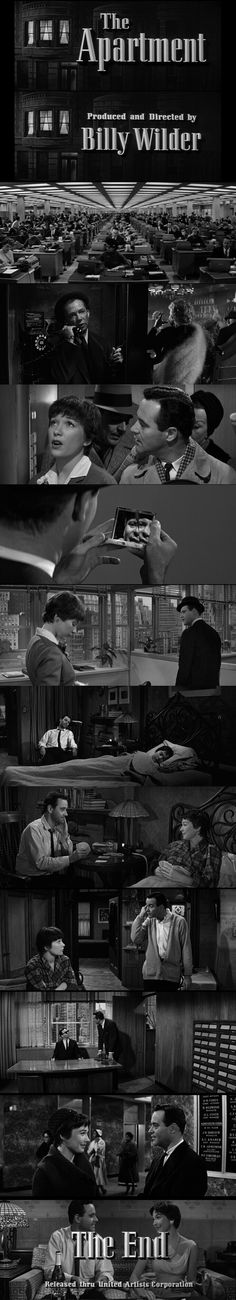 The Apartment (1960) Directed by Billy Wilder.
