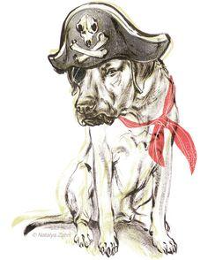 Rhodesian Ridgeback Oscar dog, the pirate