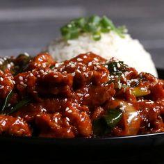 Spicy Korean BBQ-style Pork Recipe by Tasty Loading. Spicy Korean BBQ-style Pork Recipe by Tasty Spicy Korean Pork, Korean Bbq, Korean Style Ribs, Korean Fried Chicken, Pork Recipes, Asian Recipes, Cooking Recipes, Dishes Recipes, Thai Recipes