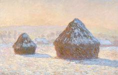 Claude MONET (1840 - 1926) Meules, effet de neige Huile sur toile, 65 x 100 cm, 1891
