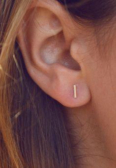 Staple earrings