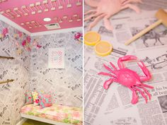 Lilly Pulitzer dressing room adorned with Maryland crabs – So in love with absolutely everything!