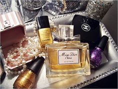 Miss Dior, Pearls, and Chanel! Miss Dior, Dior Perfume, Just Girly Things, Girly Stuff, Small Things, Nice Things, Beautiful Things, Girls World, Smell Good