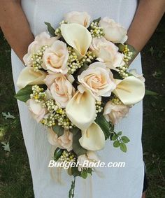 I do like the waterfall bouquets..not sure what you'd like, this one needs a little more color for the fall theme maybe?