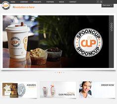 Diseño de la web de Spooncup