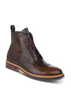 Marques   Chaussures homme   Botte en cuir de style richelieu Garthh   La  Baie D Hudson 620b0322043