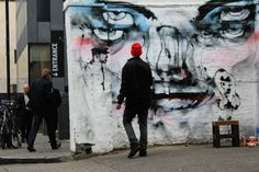 Anthony Lister street art in Shoreditch, London. Street Art London