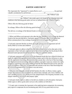 A Sample Barter Agreement | Things Worth Knowing | Pinterest | Archery