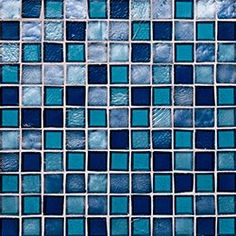 """Oceanside Glasstile...Collection Name: Tessera...Color Name: Indigo...Components: Sapphire Irid, Sapphire Non-Irid, ...Components: Bondi Irid, Bondi Non-Irid...Item Description: 1 x 1 Field...Square Feet Per Sheet: .96...Sheet Size: 11 3/4"""" x 11 3/4""""...Thickness: .24""""...Sample Item Number: TBD"""