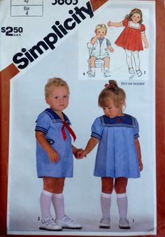 Simplicity 5865 Pattern Toddlers' Dress and Romper