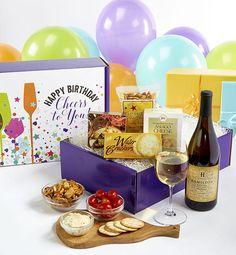 Happy Birthday! White Wine and Gourmet Box