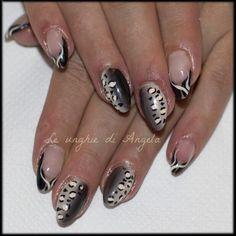 Copertura unghie naturali con shade e leopardato
