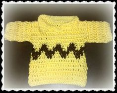 Charlie Brown zigzag sweater! (pattern on pg 3!) - KNITTING maybe ...